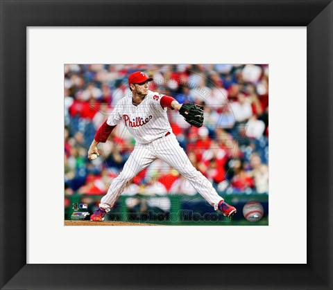 Framed Roy Halladay Baseball Action Print