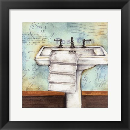 Framed Cleanse Bath Print