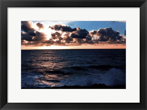 Framed Depoe Bay Sunset I Print