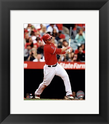 Framed Mike Trout 2013 batting Print