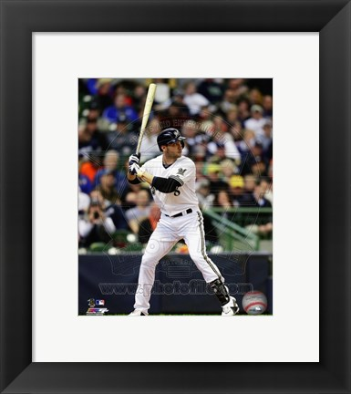 Framed Ryan Braun 2013 Action Print