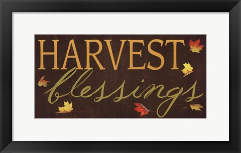 Framed Harvest Blessings Print