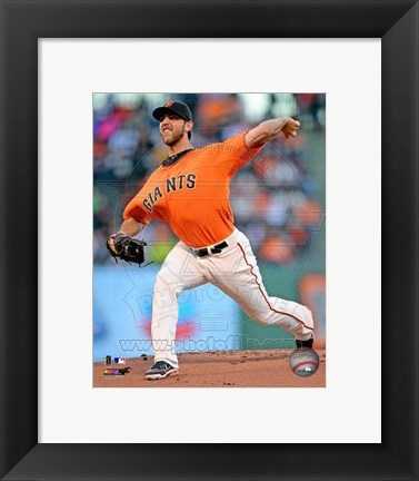 Framed Madison Bumgarner 2013 Action Print