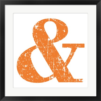 Framed Orange Ampersand Print