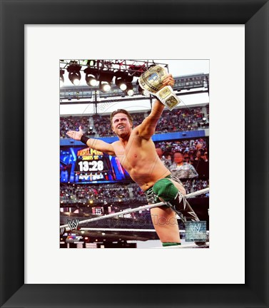 Framed Miz Wrestlemania 29 Action Print