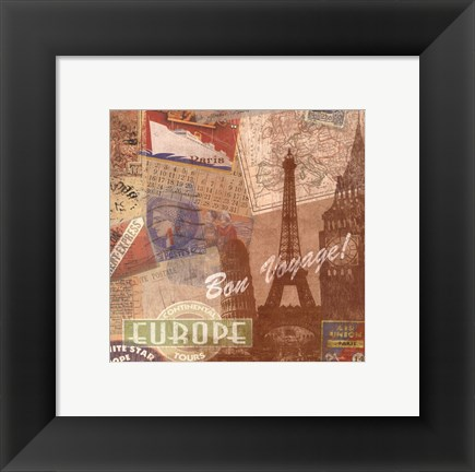 Framed Destination, Europe Print