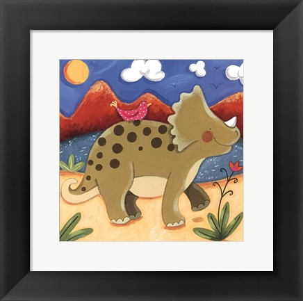 Framed Baby Timmy The Triceratops Print
