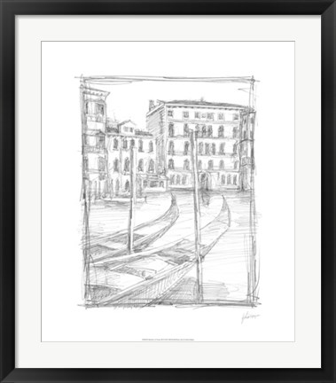 Framed Sketches of Venice III Print