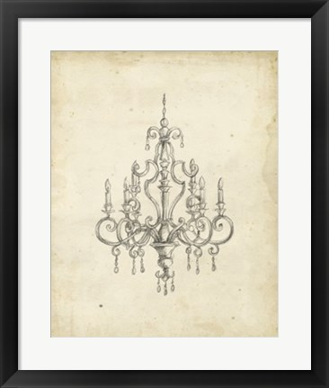 Framed Classical Chandelier III Print