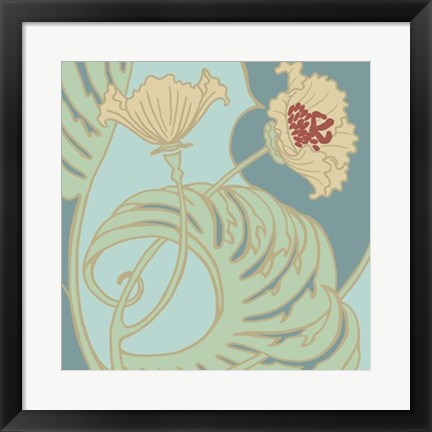 Framed Poppy Flourish II Print