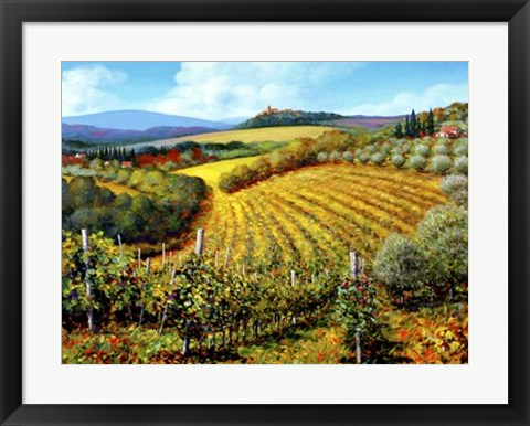 Framed Chianti Vineyards Print