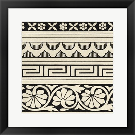Framed Ornamental Tile Motif III Print