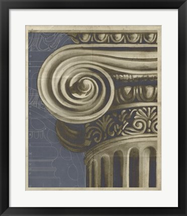Framed Ionic Architecture II Print
