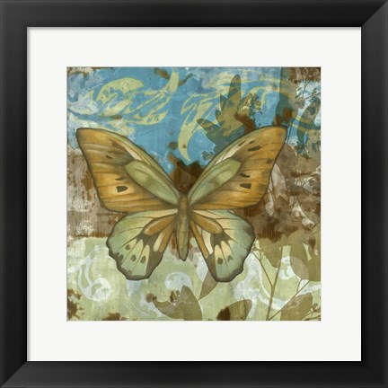 Framed Rustic Butterfly I Print