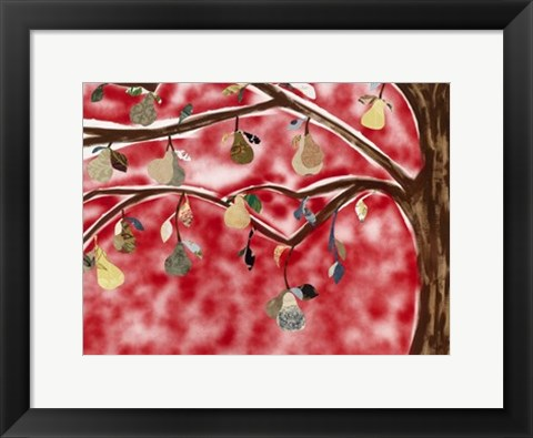 Framed Red Pear Tree Print