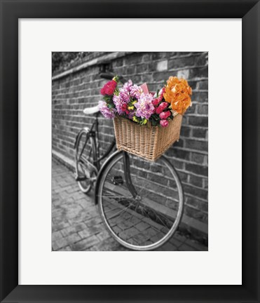 Framed Basket of Flowers II Print