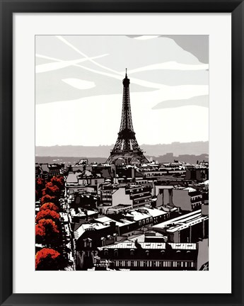 Framed Paris I Print