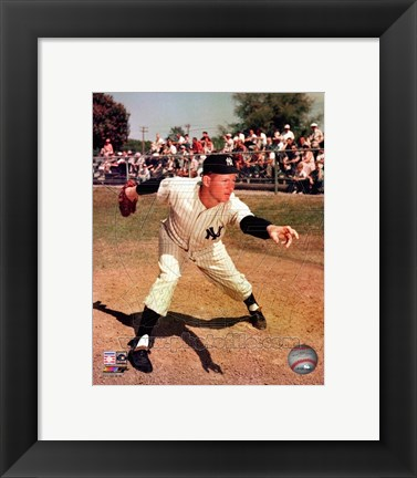 Framed Whitey Ford Posed - New York Yankees Print