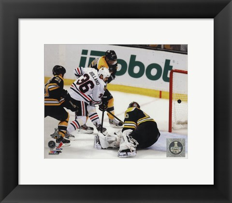 Framed Dave Bolland Game Winning Goal Game 6 of the 2013 Stanley Cup Finals Print