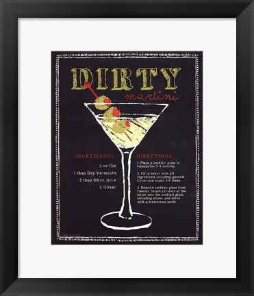 Framed Dirty Martini Print