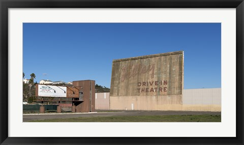 Framed Valley Drive-in Theater in Lompoc, California Print