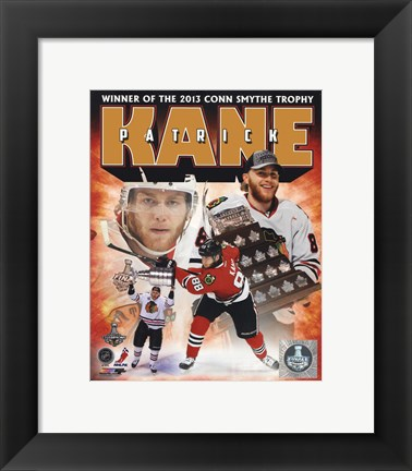 Framed Patrick Kane 2013 NHL Conn Smythe Trophy Winner Portrait Plus Print