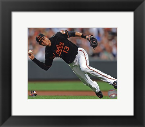 Framed Manny Machado 2013 Action Print