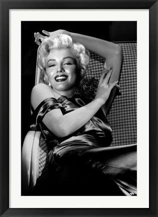 Framed Marilyn Monroe - Reclining Print