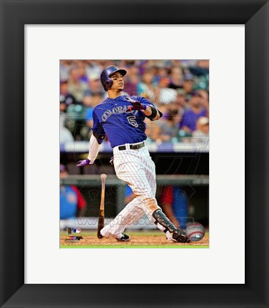 Framed Carlos Gonzalez 2013 Action Print