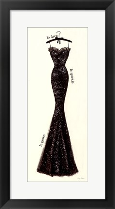 Framed Couture Noir Original IV Print