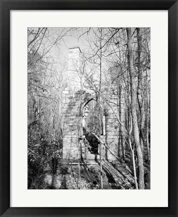 Framed McCulloch Gold Mill, Copper Branch Guilford County, North Carolina Print