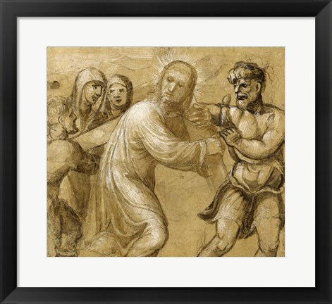 Framed Christ Carrying the Cross Print