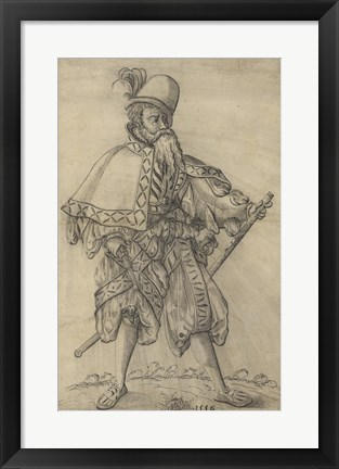 "Framed Officer of the Rank of ""Oberster Feldprofoss"" in the Imperial Army Print"