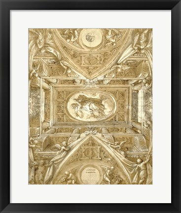 Framed Study for a Ceiling Print