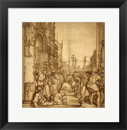 Framed Submission of the Emperor Frederick Barbarossa to Pope Alexander III Print