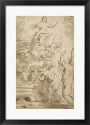 Framed Assumption of the Virgin Print