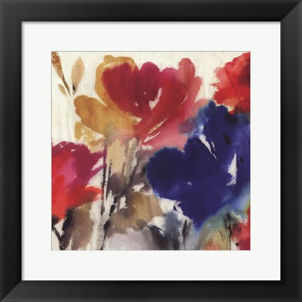 Framed Watercolour Florals I - Mini Print