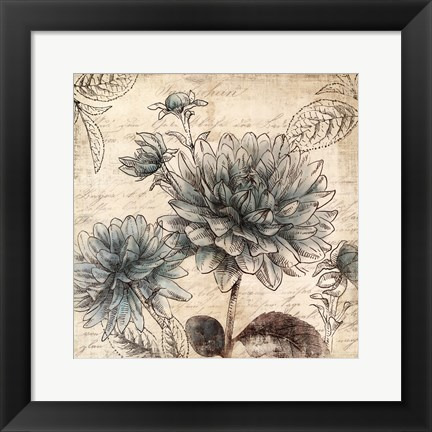 Framed Blue Botanical II - Mini Print
