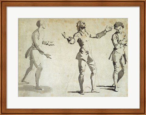 Framed Three Figure Studies Print