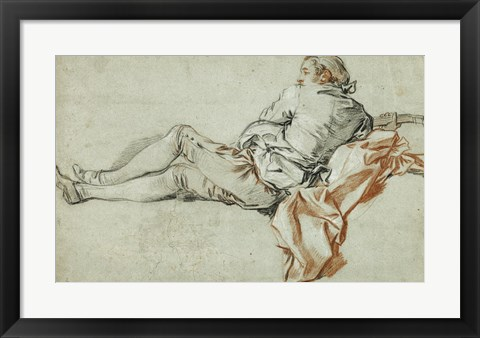 Framed Reclining Male Figure Print