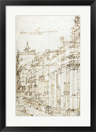 Framed Campo San Basso: The North Side with the Church Print