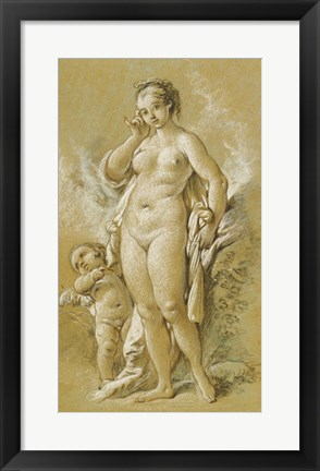 Framed Venus and Cupid Print
