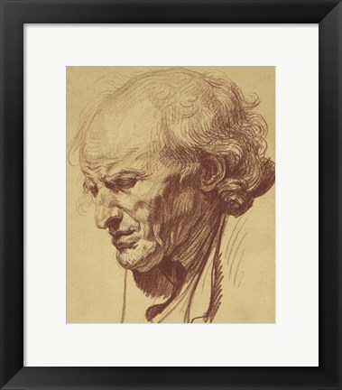 Framed Study of the Head of an Old Man Print
