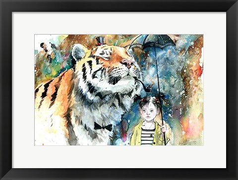 Framed Mr. Tiger Print