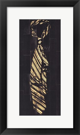 Framed Single Man's Tie II Print