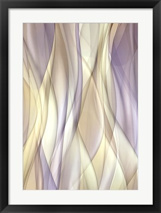 Framed Sheer Lilac And Creme Print