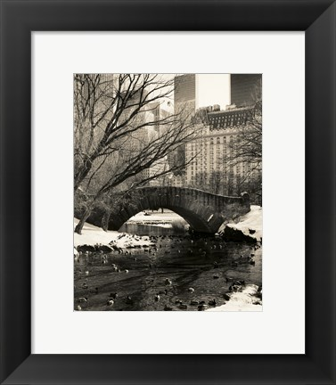 Framed Gapstow Bridge NYC Print