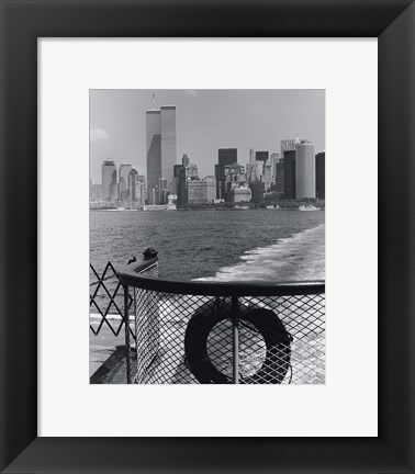 Framed View from Staten Island Ferry Print