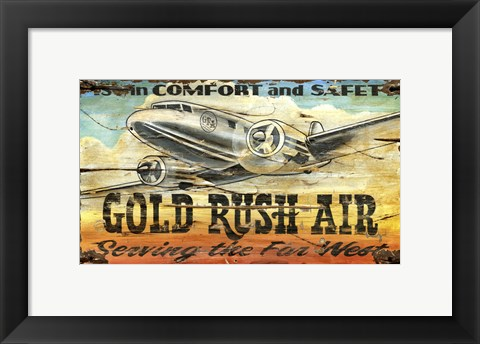 Framed Gold Rush Air Print