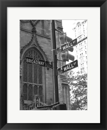 Framed Wall Street Signs Print